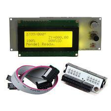 Reprap LCD 2004 20X4 for Sanguinololu with smart adapter Prusa Mendel 3D printer