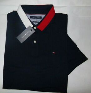 NWT Mens Tommy Hilfiger S/S Polo Shirt~SLIM FIT~NAVY~SZ MED