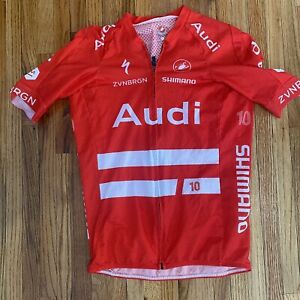 Audi Cycling Team Castelli Shimano Jersey Red Men's Large