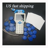 English 10 Frequency RFID Card Copier Reader for IC ID Card and All 125kHz Cards