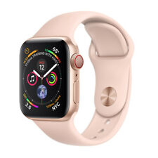 Apple Watch Series 4 40 mm Gold Aluminum Case with Pink Sand Sport Band (GPS + Cellular) - (MTVG2X/A)