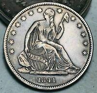 1841 O Seated Liberty Half Dollar 50C WB-6 R4 High Grade Silver US Coin CC6455