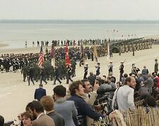 Troops from Allied nations in D-Day 40th Anniversary event 1984 - New 8x10 Photo