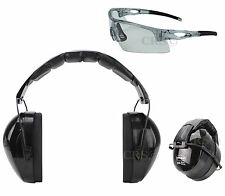 Shooting Range Earmuff Hearing Noise Protection Reduction Safety Glasses Max Nrr