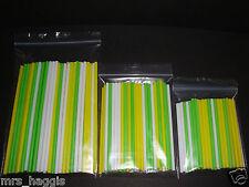 "50 X EASTER CAKE POP LOLLIPOP STICKS 6"" 4.5"" & 3.5"" YELLOW GREEN WHITE STICKS"