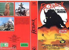 Razorback Oltre l'Urlo del Demonio (1990) VHS Skorpion Video  1a Ed.