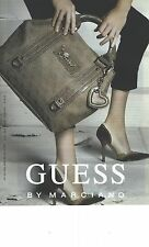 PUBLICITE ADVERTISING 2010   GUESS sac maroquinerie chaussures