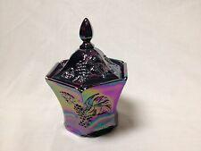 FENTON GLASS AMETHYST CARNIVAL CANDY BOX #4108 CN