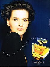 PUBLICITE  ADVERTISING  1998    LANCOME  parfum POEME  INES SASTRE
