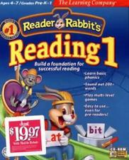 Reader Rabbit Reading 1 PC CD learn to read phonics sound out words letters game