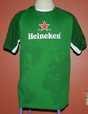 Men's Heineken Beer World Cup Soccer Jersey #18 Map Green Shirt XL