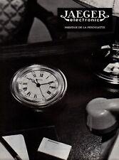 ▬► Publicité - Original French Print advert - Pendule JAEGER Electronic