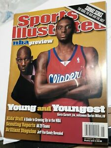 Kevin Garnett Minnesota Timberwolves Sports Illustrated Magazine Basketball NBA