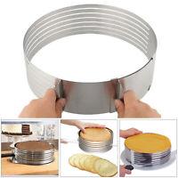 UK Stainless Steel Layer Cake Slicer Kit Mousse Slicing Cake Setting Ring Round