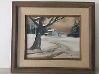 """Steve Stallings Original Oil Painting """"Snow Flurries"""", Signed, Framed"""