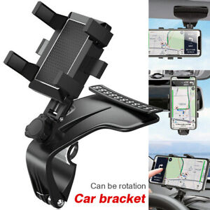 Car Dashboard Clip Phone Holder Cradle 360° Rotating with Parking Plates Number