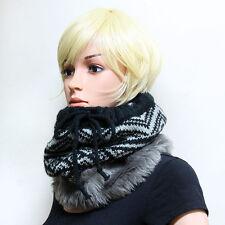 New Men Women Unisex Infinity Scarf Wrap Loop Scarves Winter Hat Faux Fur S940