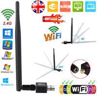 Adaptateur WiFi USB sans fil 900Mbps Dongle LAN 802.11 / b / g / n 2.4Ghz PC DE