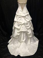 David's Bridal Strapless Corset Back Puffy Pick-up Wedding Dress Sz 6 #23