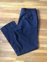 Luxe Pal Zileri 32 x 31 Dark Gray Flat-Front Dress Pants,100% Wool,Made in Italy