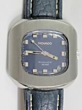 Movado Model HS 360 Stainless Vintage 70's Kingmatic Sub-sea Automatic Watch