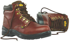 Site Stone Safety Boots Chestnut - Padded Collar and Tongue ** PURCHASE TODAY **