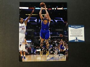 Klay Thompson Hot! signed autographed Warriors Curry 8x10 photo Beckett BAS coa
