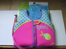 Speedo Girl's Pink and Teal Neoprene Swim Vest Medium 2-4 Yrs Weight 33-45 Lbs