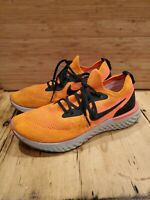 Nike Epic React Flyknit  Size 9.5 Copper Flash AQ0067 800 GUC!! ORANGE PINK!!!!
