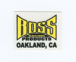 BOSS RACING products BMX BANNER 3ft X 2ft White Yellow