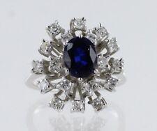 18ct White Gold Diamond and Sapphire Ladies Dress Ring