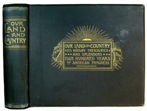 PHOTO BOOK EARLY AMERICA Frontier OLD WEST Indian RAILROAD Travel ANTIQUE Rare