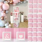 A-Z 0-9 Baby Shower Décor Gift Box Transparent Balloons Packing DIY Letter Cube