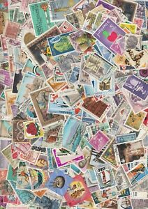 World 250 Stamps Off Paper - No GB - Mint & Used Mixture Stamps For Collectors