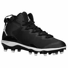 JORDAN SUPER.FLY 3 TD FOOTBALL CLEATS *719548-010* (BLK/WHT) ASST SIZES *NIB*