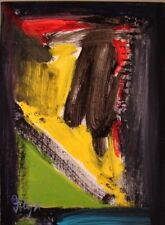 Modernist ABSTRACT Expressionist Painting MODERN Wall ART DIVISIONS FOLTZ