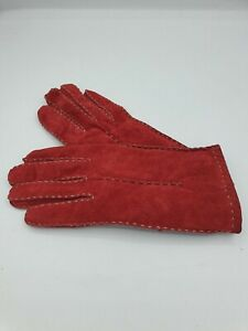 Conbipel ladies gloves suede leather red one size 003