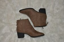 04ae8ca291b3 H M Women s Brown Tan Suede Ankle Boots Booties Size 38 7