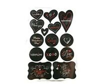 Chalkboard Heart Quote Stickers - 28pc