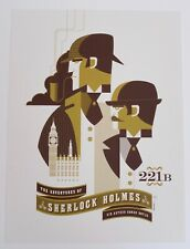 ADVENTURES OF SHERLOCK HOLMES MONDO POSTER TOM WHALEN LTD EDITION SCREEN PRINT