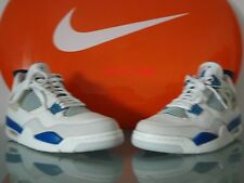 New 2006 Nike Air Jordan IV 4 Retro WHITE MILITARY BLUE 10 US 44 EUR 6 4 3 2 7 8