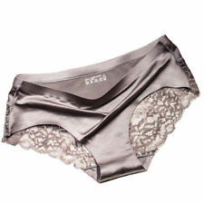 4570eb0581e Sexy Women Lace Lingerie Briefs Seamless Panties Solid Ice Silk Soft  Underwear
