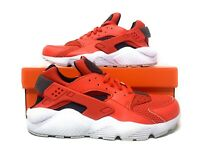 Nike Air Huarache Mens 318429-609 Habanero Red Black Running Shoes Size 9