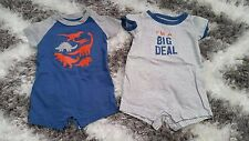 CARTERS BABY BOY OR GILR SET OF 2 LOT ONESIES 6 MONTHS BIG DEAL