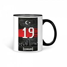 TASSE Kaffeetasse Türkei Corum 19 Türkiye Plaka V2