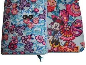 NEW Vera Bradley Disney Mickey's Colorful Garden Riley Compact Wallet