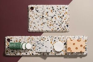 Terrazzo Käseplatte Servierplatte DOIY 29 x 19 oder 59 x 14 cm Platte Käsebrett