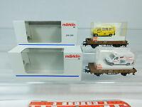 AW976-0,5# 2x Märklin H0/AC Somo/Güterwagen+Busch-Modell: 259/300 etc, NEUW+OVP
