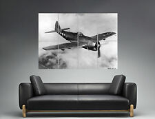 Aircraft Republic P-47N Thunderbolt Vintage Wall Art Poster Grand format A0