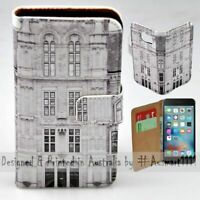 For Apple iPhone Series - Vintage Building Theme Print Mobile Phone Case Cover